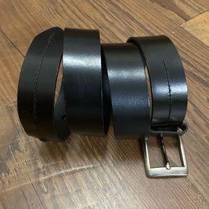 Other - Black leather men's belt